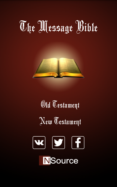 The Message Bible- screenshot