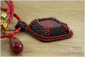 Photo: The Red Pendant with Red Jasper - Червоний кулон з червоною яшмою