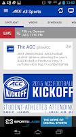 Screenshot of ACC Sports