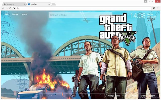 Grand Theft Auto GTA V HD Wallpapers New Tab Chrome Web Store