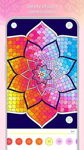 التلوين بالأرقام u2013 Mandala Book Screenshot 5