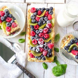 Fresh Fruit Tart with Basil Pastry Cream & Fig Glaze