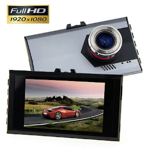 Camera auto Gold Full HD cu display 3 inch oferta reducere 0