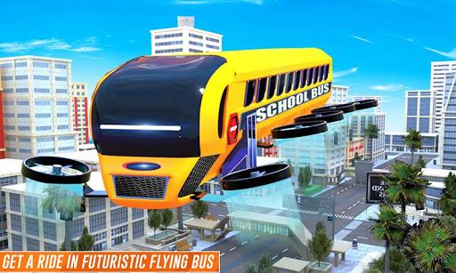 Flying School Bus Robot: Hero Robot Games 12 screenshots 4