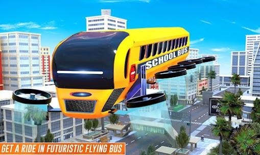 Flying School Bus Robot: Hero Robot Games 5