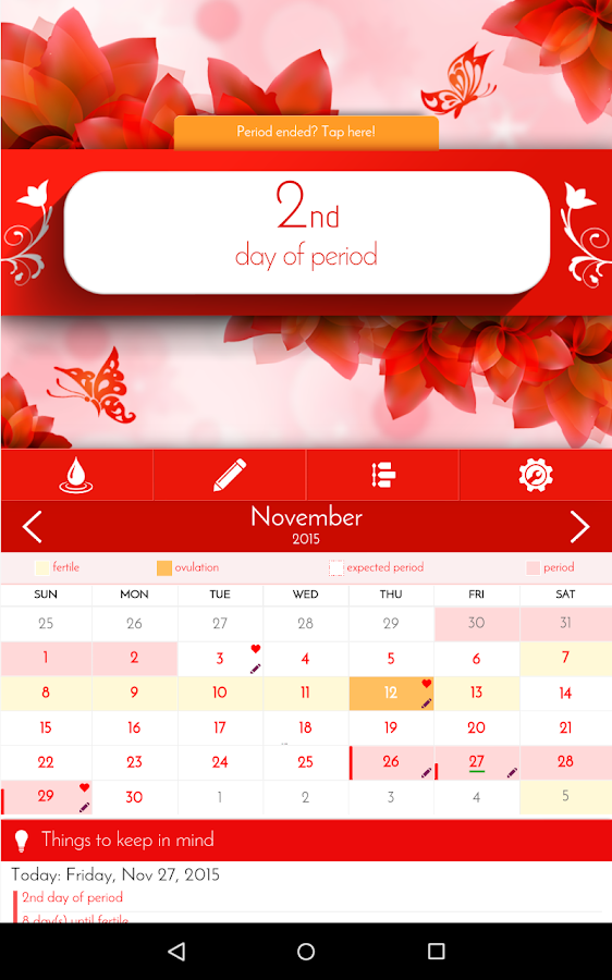 Period Tracker & Diary- screenshot