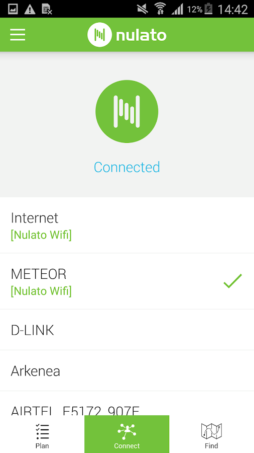 Nulato Wifi- screenshot