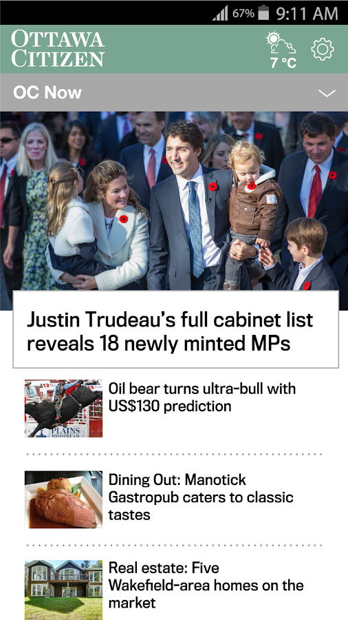 Ottawa Citizen- screenshot