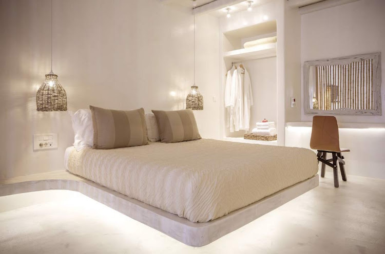 A bedroom suite at the Naxian Collection in Naxos, Greece (click to enlarge).