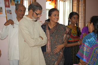 Photo: Mrs. and Mr. Dr. Soundararajan visiting the Exhibition