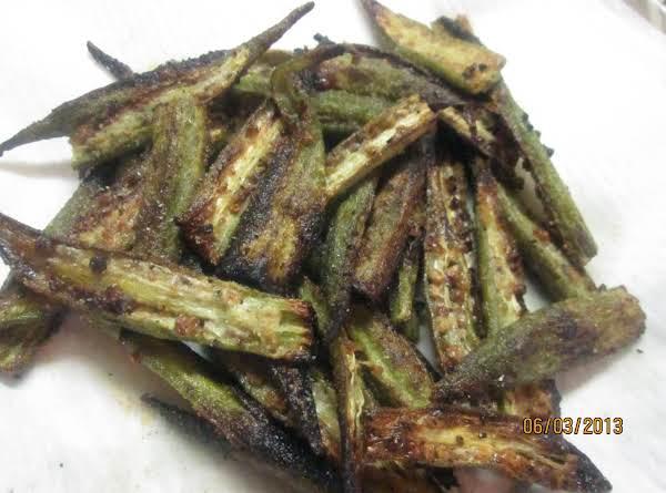 Roasted Garlicky Okra Recipe