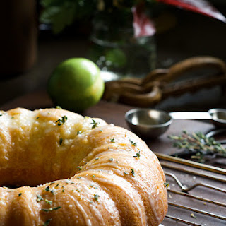 Lime and Sour cream Cake.
