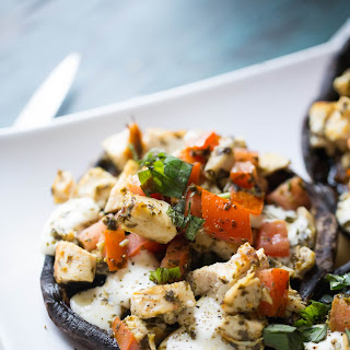 Caprese Chicken Portobello Mushrooms