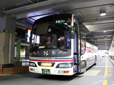 阪急バス「よさこい号」 05-2889 大阪梅田(阪急三番街)到着