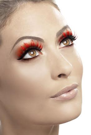 Ögonfransar, Röd/svart