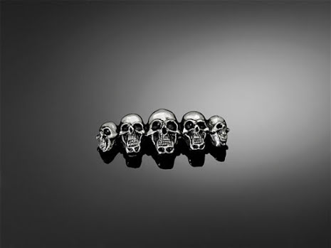 HIGHWAY HAWK Skulls in a row, Gr. S