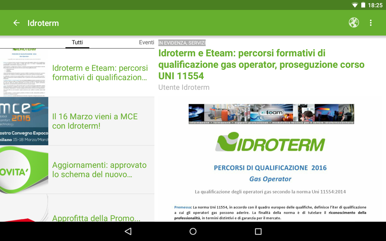Idroterm- screenshot