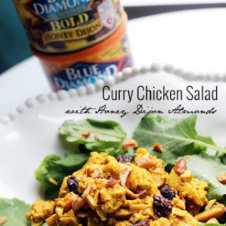 Honey Dijon Almond Curry Chicken Salad.