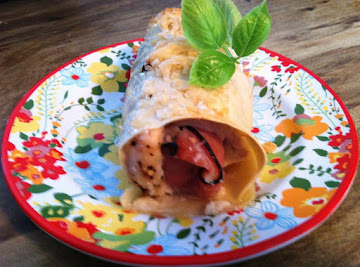 Baked Chicken Cordon Bleu Cannelloni Rolls Recipe