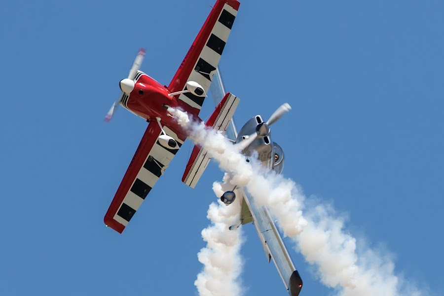 Criss Cross by Jim Talbert - Transportation Airplanes ( flight, flying, sky, airplanes, airplane, kansas, formation, airshow )