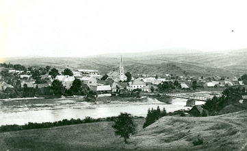Photo: Pohľad na Tvrdošín z medveckej strany z obdobia rokov 1905-1906.