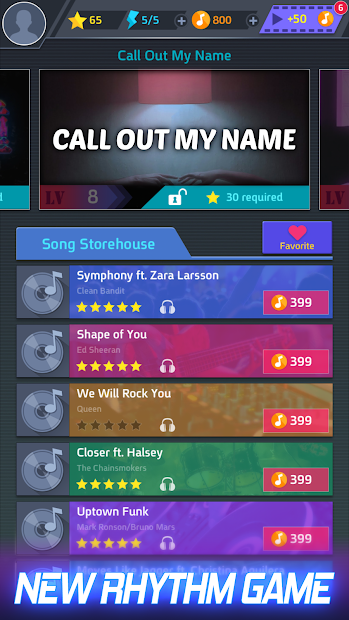 Tap Tap Music-Pop Songs Android App Screenshot