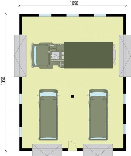 G234 - Rzut garażu