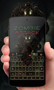 Zombie Attack Keyboard Theme - náhled
