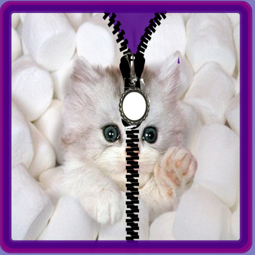 Cute kitty unlock zipper