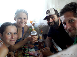 Photo: Our last group picture before we have to put Yulia on a train back to Krasnoyarsk
