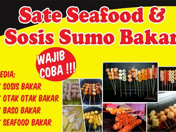 keren spanduk sosis bakar dan sate seafood erlie decor spanduk sosis bakar dan sate seafood