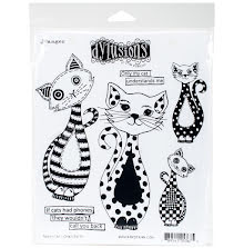 Dylusions Cling Stamps 8.5X7 - Puddy Cat