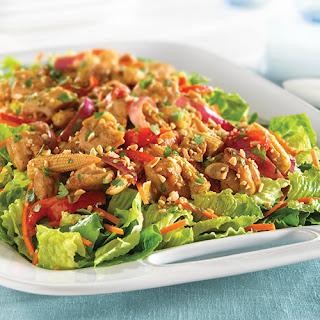 Thai Peanut Chicken Stir-Fry Salad