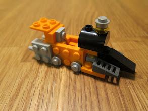 Photo: A steam engine.