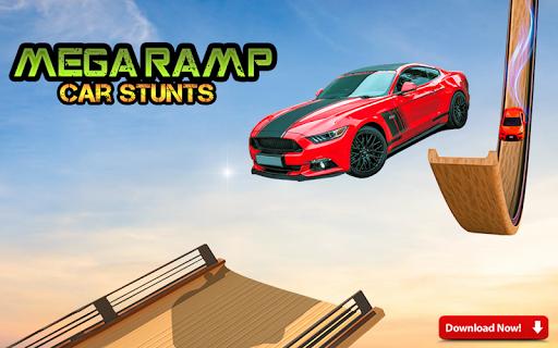 Mega Stunt Car Race Game - Free Games 2020 Apk 1