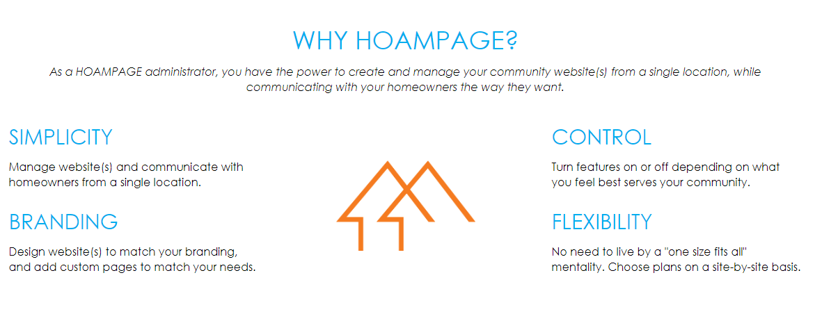 Why use Hoampage for community websites