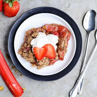 Strawberry Rhubarb Crisp.