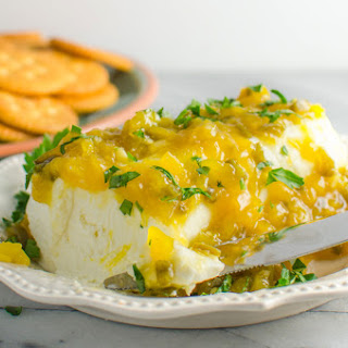 Mango Jalapeno Jam (and Mango Jalapeno Cream Cheese dip)