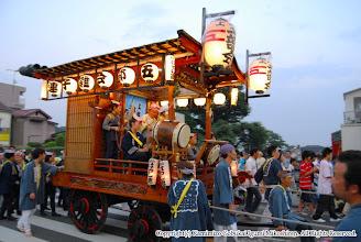 Photo: 【平成19年(2007) 宵宮】 日暮れを迎え、「いんば」の音を響かせる。