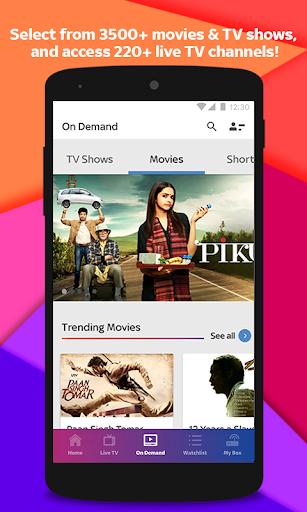 Tata Sky Mobile- Live TV, Movies, Sports, Recharge 9.2 screenshots 2