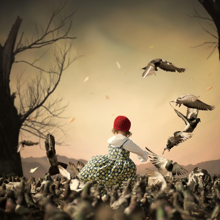 The pigeon storm by Caras Ionut - Digital Art Things ( http://www.carasdesign.ro/tutorials )