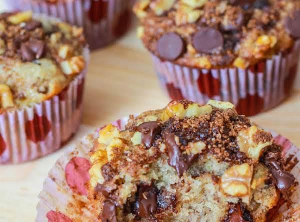 Banana Chocolate Chip Streusel Muffins Recipe