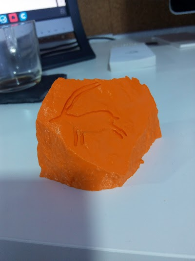 first print of the rock model