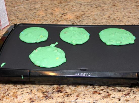 For each pancake, pour slightly less than 1/4 cup batter onto hot griddle. Cook...