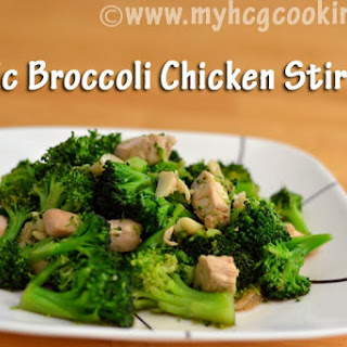P2 Garlic Broccoli Chicken Stir Fry.