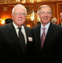 Photo: Former Chief Justice of the SJC Herb Wilkins with BBA President Paul Dacier.