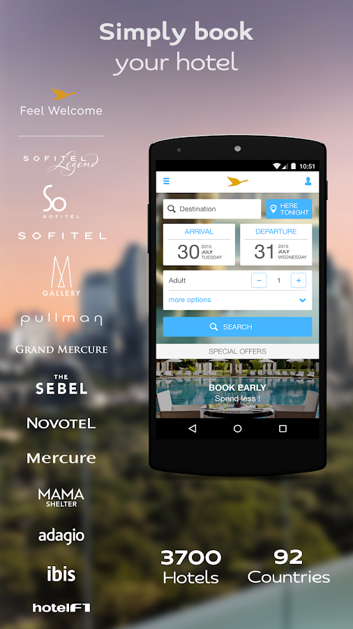 AccorHotels hotel booking- screenshot