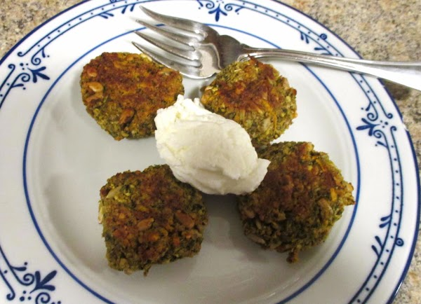 For a quick breakfast, microwave frozen felafel until hot, about 1 minute on high...