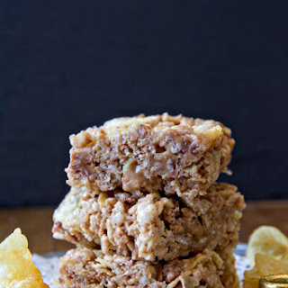 Salted Caramel Loaded Rice Krispie Treats