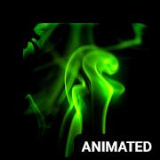 Neon Smoke Animated Keyboard + Live Wallpaper